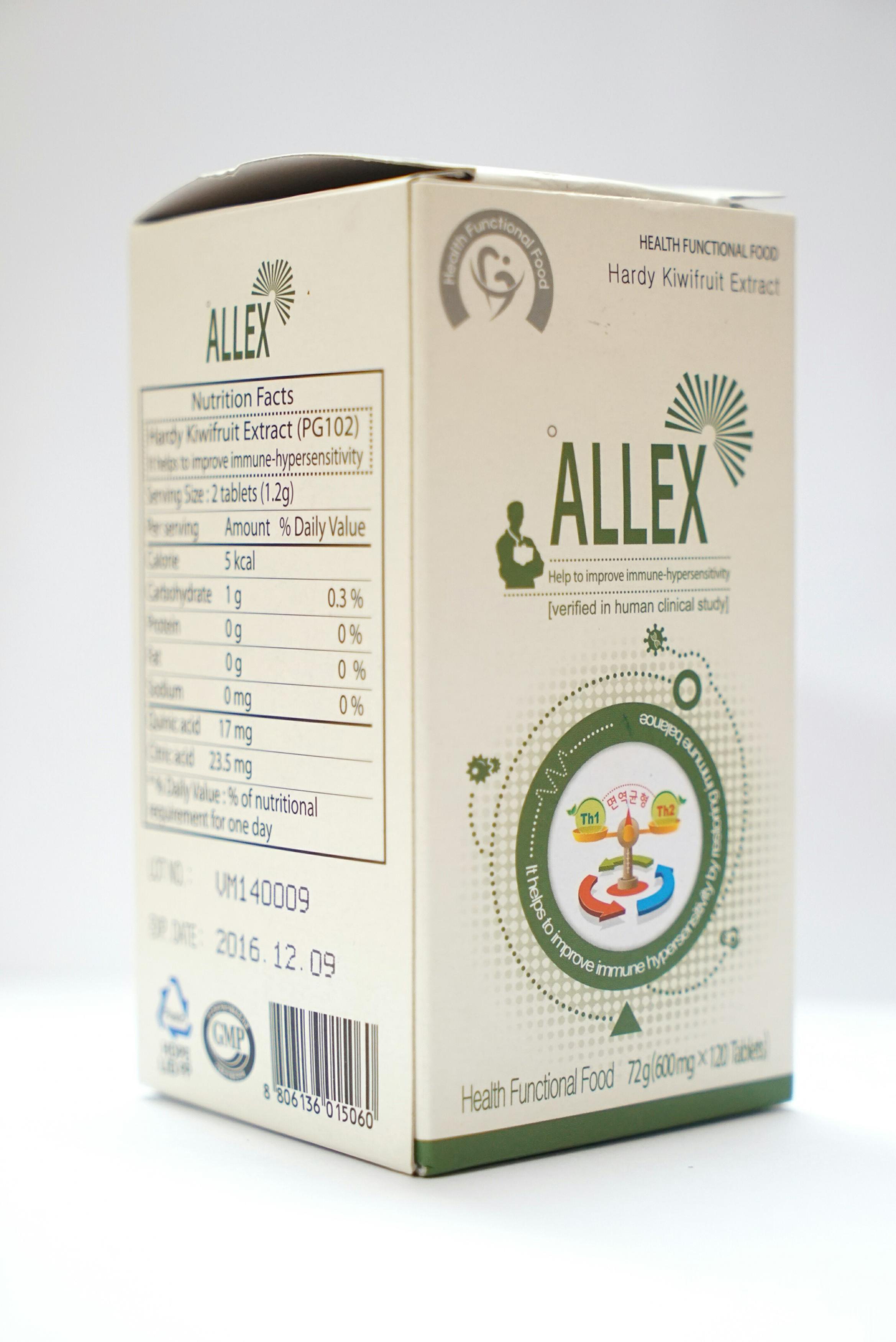 ALLEX hỗ trợ điều trị bệnh mề đay, viêm da cơ địa, hen phế quản, viêm mũi dị ứng